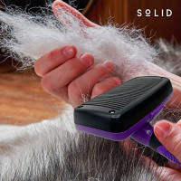 SoLID (TM Self Cleaning Slicker Brush Shedding Grooming Tool for Dog Cat and Pets : Pet Supplies