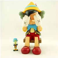 Kaws BFF 10 inch Standing 8 inch Sitting Dissected Companion Original Fake Art Toys Action Figure Figurine Plush Doll Toy Model Statue Accessories Collection Fancy Morden Decoration Gift: Home & Kitchen