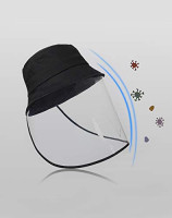 Protection Hat - Anti Saliva Anti-Spitting Splash Fog UV Hat with Face Shield - Face Isolation Anti-Pollution Hat, 2 in 1 Caps for Germ Protection: Beauty