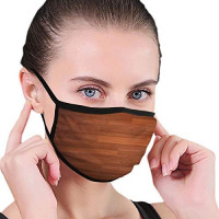 Masks Dark Parquet Seamless Wooden Stripe Unisex Breathable Face Mask Masks at Women's Clothing store