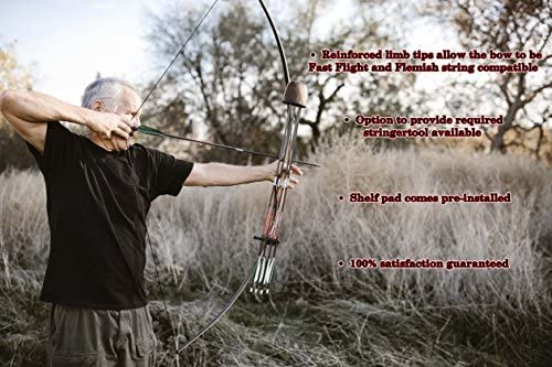 "Southwest Archery Scorpion Traditional Hunting Long Bow – 68"" Longbow – Right & Left Hand – Draw Weights in 25-60 lbs – USA Based Company – – No Stringer : Sports & Outdoors"
