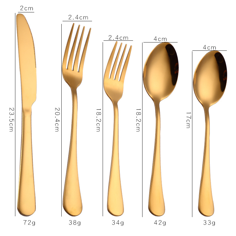 1010 Stainless Steel Cutlery Stainless Steel Cutlery Western Steak Cutlery Gold Plated Cutlery Set