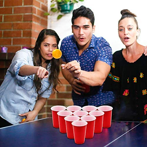 Pool Party Game 24 Cups /& 24 Ping Pong Balls Included Beer Pong Game