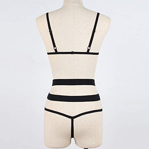 Great Miracle Micro Bikini Women Lingerie Corset Bandage Open Bra Hollow Underwire Racy Muslin Sleepwear Underwear: Clothing