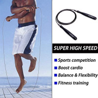 Goothdurs Speed Jump Rope with Ball Bearings -Tangle-Free Adjustable & Self-Locking Skipping Ropes for Men Women and Kids, Best for Workout, Crossfit, Double Dutch, Boxing, MMA and Fitness Exercise : Sports & Outdoors