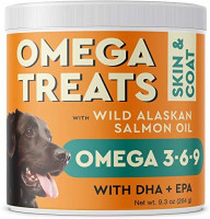 Pawfectchow Fish Oil Omega 3 for Dogs - Allergy Relief - Joint Health - Itch Relief, Shedding - Skin and Coat Supplement - Alaskan Salmon Oil Chews - Omega 3 6 9 - EPA & DHA Fatty Acids : Pet Supplies