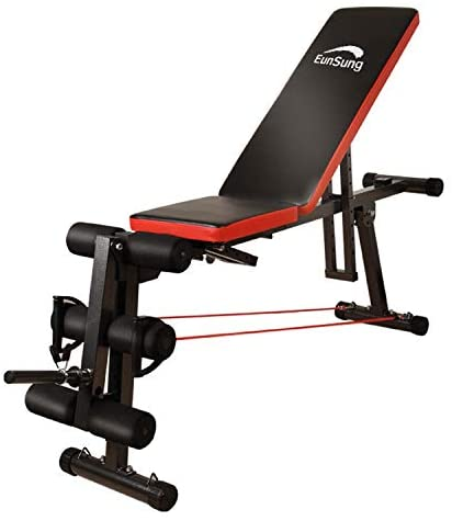 Adjustable Weightlifting Bed, Multifunctional, Home Gym, Barbell Weightlifting Exercise, Fitness Incline, Practical Adjustable Stool for Whole Body Exercise, Foldable, Inclined Drop Stool (Black): Health & Personal Care