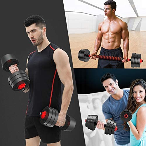 Dumbbell Weight Set – 2Pcs 22Lbs Home Weights Set – Includes Connecting Rod – Barbells Weights Set for Home Gym – User-Friendly Design – Easy Comfortable Grip – Ideal for Fitness, Lifting, Muscle Mass : Sports & Outdoors