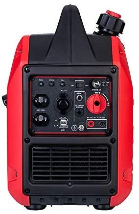 PowerSmart PS5025 Super Quiet 2000 watt Portable Inverter Generator, Red/Black : Garden & Outdoor