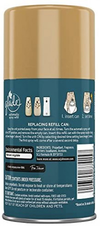 Glade Automatic Spray Refill - Limited Edition - Winter Collection 2017 - Warm Flannel Embrace - Net Wt. 6.2 OZ (175 g) Per Refill Can - Pack of 3 Refill Cans: Health & Personal Care