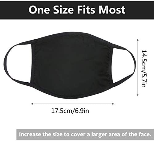 UNIME Anti-Dust Mouth Mask Cotton Mouth Mask, Unisex Black Face Mask Reusable Fashion Mask Anime Face Mask Washable Mask Reusable Mask for Cycling Camping Travel for Men Women, Pack of 1