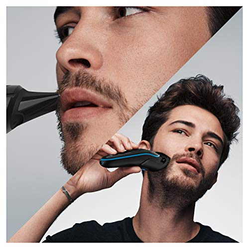 Braun All-in-one trimmer MGK5245, 7-in-1 Beard Trimmer, Hair Clipper, Detail Trimmer, Rechargeable, with Gillette ProGlide Razor, Black/Blue: Beauty