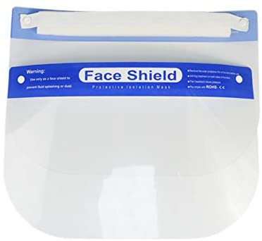 Safety Face Shield, Fully Assembled, Transparent Full Face Protection, 50 pcs