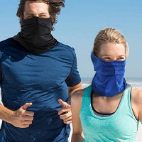 6 Pieces Summer UV Protection Face Mask Neck Gaiter Scarf Sunscreen Breathable Bandana (Color Set 2): Sports & Outdoors
