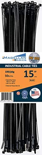 """50 Pack Cable Zip Ties Heavy Duty""""Made in the USA"""" 21 inch, Black: : Industrial & Scientific"""