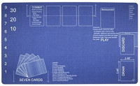 Blueprint Playmat by Inked Gaming / Perfect for MTG Gaming. MTG Playmat. Your Game. Your Style.: Toys & Games
