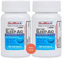 ValuMeds Nighttime Sleep Aid (Twin Pack - 192 Softgels) Diphenhydramine HCl, 50 mg | Supports Deeper, Restful Sleeping for Men, Women: Health & Personal Care