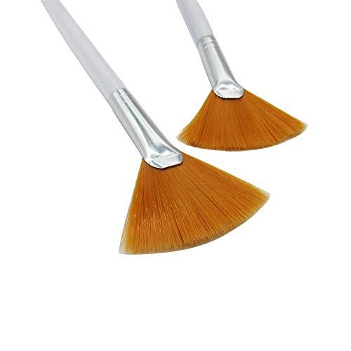 3 Pcs Facial Brushes Fan Mask Brush Acid Applicator for Glycolic Peel/Masques: Beauty