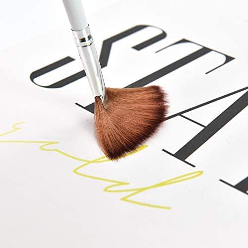 Timoo 6pcs Fan Brush Set, Fan Mask Brush Facial Mask Brush for Peel Mask, Makeup.: Home & Kitchen