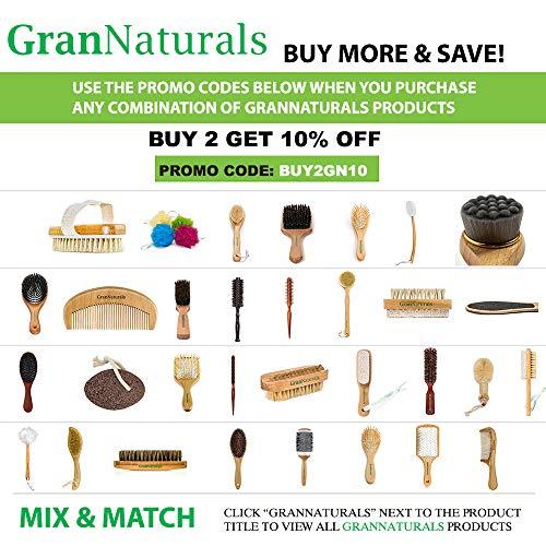 GranNaturals Bath & Shower Dry Skin and Body Sisal Brush | Naturals Fibers to Improve Blood Circulation, Exfoliate Skin, and Reduce Cellulite : Beauty