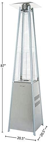 Outdoor Pyramid Patio Heater, Stainless Steel : Garden & Outdoor