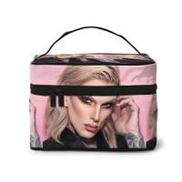 Jef-fr-ee S-taR Makeup Bag Portable Travel Cosmetic Bag For Women Girls Makeup Bag Organizer Makeup Boxes : Beauty