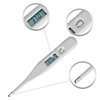 Snowfoller Digital Medical Thermometer for Babies Adult LCD Digital Thermometer Temperature Measurement for Home Use (White) : Beauty