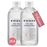 Micellar Cleansing Water with Probiotics 16.9 Ounces, Facial Cleanser and Makeup Remover, Facial Cleansing Water with Probiotics and Natural Ingredients for Sensitive Skin by Mizon (1 Pack 16.9 fl oz): Beauty