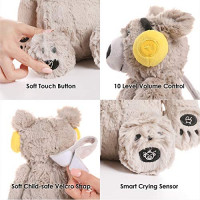 Lulla Bear Shusher by Alex & Kate - Mom's Heartbeat Sound, White Noise, and Lullabies - Portable Toddler Sleep Aid Toy, Baby Sleep Soothing Sounds for Newborn Crib to Comfort, Gender Neutral : Baby