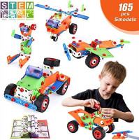 LUKAT 288 Piece STEM Toys Kit, Science Kit Building Toys for Kids, Educational Construction Engineering Learning Toys Set Gift for 5 6 7 8+ Year Old Boys Girls: Toys & Games
