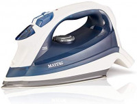 Maytag Digital Smart Fill Steam Iron & Vertical Steamer with Pearl Ceramic Sole Plate, Removable Water Tank + Thermostat Dial, Grey/Blue: Home & Kitchen