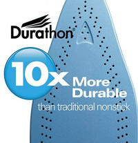 Hamilton Beach Steam Iron & Vertical Steamer for Clothes with Scratch-Resistant Durathon Soleplate, 1500 Watts, 3-Way Auto Shutoff, Anti-Drip, Self-Cleaning, Adjustable Steam Settings, (19701): Automatic Turnoff Irons: Kitchen & Dining