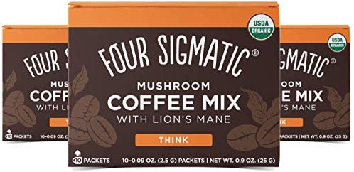 Four Sigmatic Mushroom Coffee Lion's Mane and Chaga Pack of 3 (30 Packets Total): : Grocery & Gourmet Food