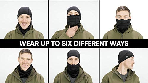 Balaclava Face Mask Ultimate Protection from Dust, Aerosols & Elements - 6 Ways to Wear: Clothing