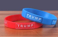 Lot of 2 Trump Make American Great Again Wristband Silicone Bracelet Shipped from USA at 's Sports Collectibles Store