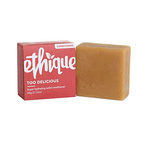 Ethique Eco-Friendly Super Hydrating Conditioner Bar for Very Dry Hair, Too Delicious - Natural Deep Conditioner Hair Treatment, Soap Free, Vegan, Plant Based, 100% Compostable and Zero Waste, 2.12oz : Beauty