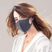 3pc Pollution 𝑴𝒂𝒔𝒌 Washable 𝑴𝒂𝒔𝒌 with Earloop Breathing Outdoor Adult Kids: Beauty