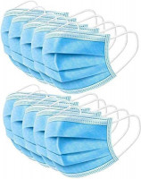 US Stock Disposable 3-Ply Earloop Face Masks: Clothing