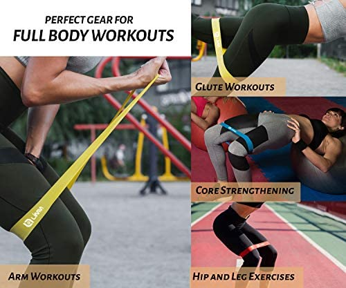 Limm Resistance Bands Exercise Loops - 12-inch Workout Flexbands for Physical Therapy, Rehab, Stretching, Home Fitness and More - Includes Bonus E, Instruction Manual, Online Videos & Carry Bag : Sports & Outdoors