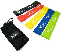 ARC fitness project Loop Resistance Band Set of 5 - Best Fitness Exercise Bands for Working Out or Physical Therapy - 12x2 Inches (5 Piece Set) : Sports & Outdoors
