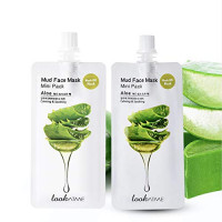 Look At Me Mud Mask Minis (2-Pack) Lemon Mint Korean Face Mask with Kaolin, and Bentonite Clay. Korean Skin Care, Pore Minimizer. Brightening Skin Mask and Korean Beauty Hydrating Facial Mask. : Beauty