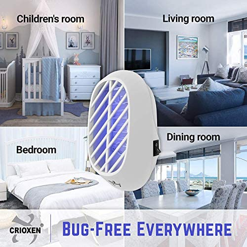 Crioxen Indoor Plug-in Bug Zapper - Mosquito Trap with UV Light - Indoor Mosquito Killer - Electric Insect Repellent - Gnat Trap for Mosquitoes Fruit Flies and Flying Gnats - Pack of 2 : Garden & Outdoor