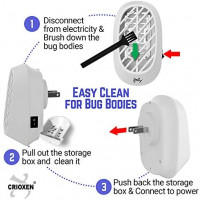 Crioxen Indoor Plug-in Bug Zapper - Mosquito Trap with UV Light - Indoor Mosquito Killer - Electric Insect Repellent - Gnat Trap for Mosquitoes Fruit Flies and Flying Gnats (1x) : Garden & Outdoor