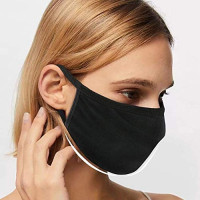 3 Pack Unisex Face Shield ,face covering with Comfortable Earloop,Individually Wrapped,Black Cotton, Washable,Reusable Cloth: Beauty