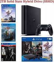 NexiGo 2020 Upgraded 2TB SSHD Playstation 4 PS4 Console Holiday Bundle, Included 3X Games (The Last of Us, God of War, Horizon Zero Dawn): Electronics