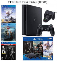 NexiGo 2020 Playstation 4 PS4 Console Holiday Bundle 1TB HDD + Included 3X Games (The Last of Us, God of War, Horizon Zero Dawn) Charging Station: Electronics