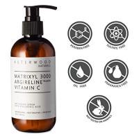 MATRIXYL 3000 + ARGIRELINE Peptide + Vitamin C 8 oz Serum + Organic Hyaluronic Acid, Reduce Sun Spots and Wrinkles, Our Most Powerful Triple Combination ASTERWOOD NATURALS Pump Bottle: Beauty
