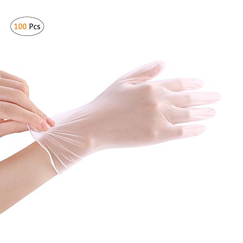 Disposable PVC Gloves, YOUYA DENTAL 100 Pcs Disposable Gloves Powder Free Rubber Latex Free Disposable PVC Gloves Non Sterile Ambidextrous Comfortable Industrial Clear Rubber Gloves S: : Industrial & Scientific