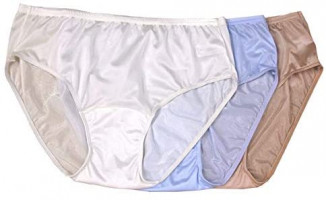 Shadowline Women's Hidden Elastic Nylon Hipster Panty 3-Pack at Women's Clothing store