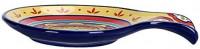 Bico Blue Talavera Ceramic Spoon Rest, Dishwasher Safe: Kitchen & Dining